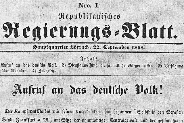 Ende der Revolution: Gustav Struve wurde 1848 in Wehr verhaftet