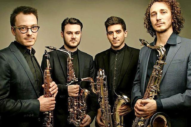 Rheinfelden: Das Fukio Saxophonquartett spielt im Rittersaal von Schloss Beuggen