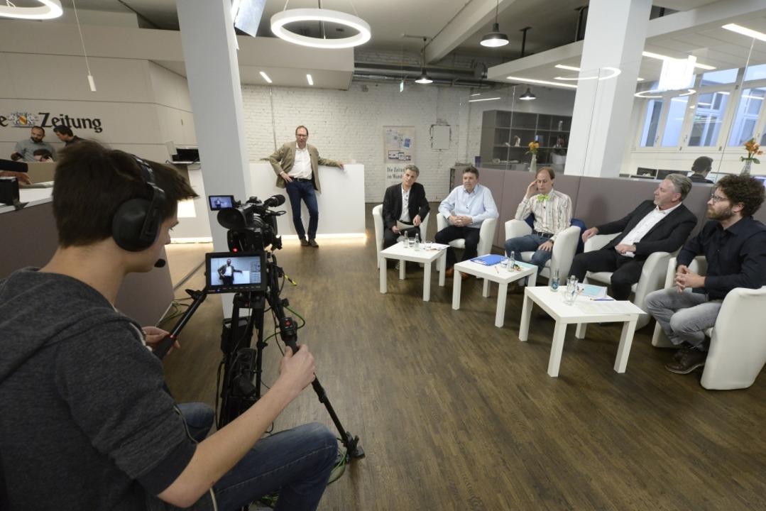 Die Kandidaten beim Wahltalk im BZ-Haus.  | Foto: Ingo Schneider