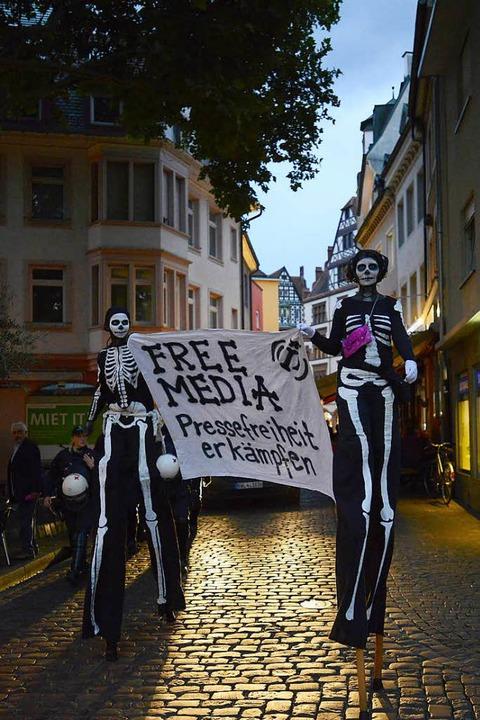 Demonstration gegen das Verbot von Indymedia im September 2017  | Foto: Ingo Schneider