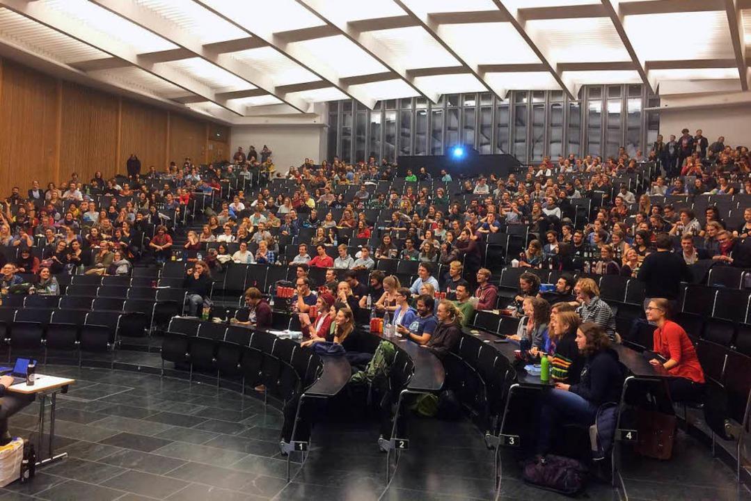 Studentische Vollversammlung im Dezember 2016 (Archivfoto)  | Foto: Daniel Laufer