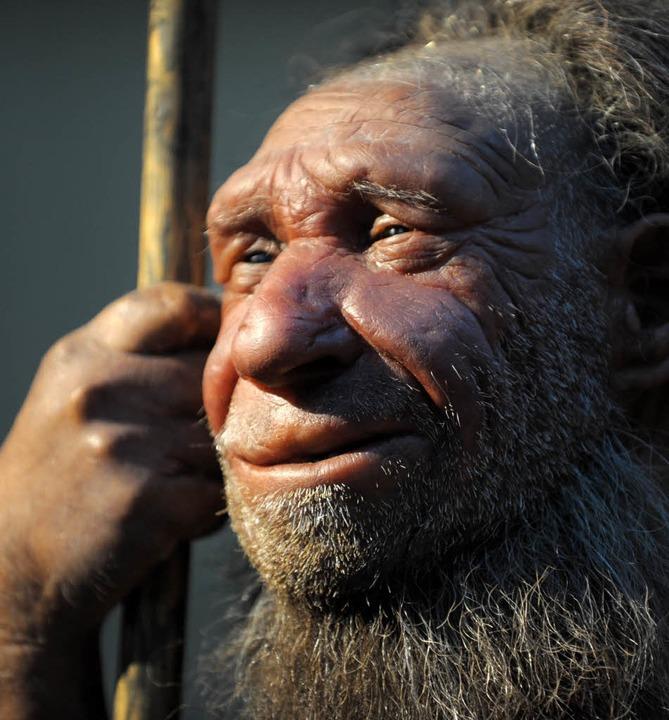 Neandertaler-Nachbildung     Foto: dpa