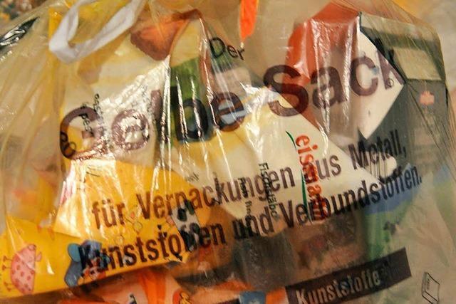 Gelbe Säcke können nächste Woche in Lörrach, Schönau und Efringen-Kirchen abgegeben werden