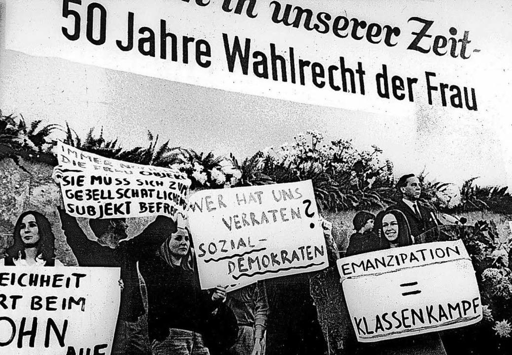 Das Bild vom 12. Oktober 1968 zeigt An...die Geburtsstunde der Frauenbewegung.     Foto: dpa