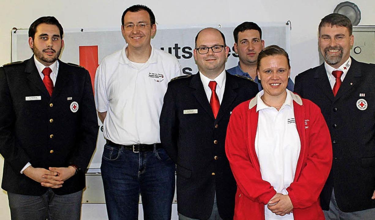 Simon Redling (von links), Christian B...tt Büllesbach und  Dr. Andreas Fluck      Foto: Albert Greiner