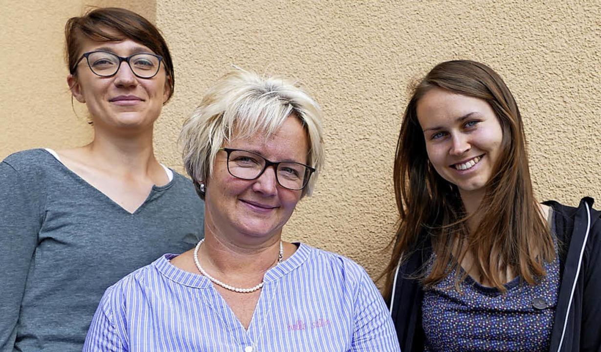 Die Integrationsmanagerinnen (von link... Sonja Wursthorn und Carolin Radburg.     Foto: Tanja Bury