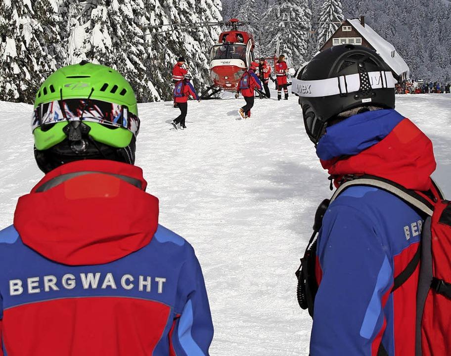 Viel Schnee, viele Wintersportler: Für...ene Skisaison mehr Einsätze mit sich.     Foto: Bergwacht Schwarzwald