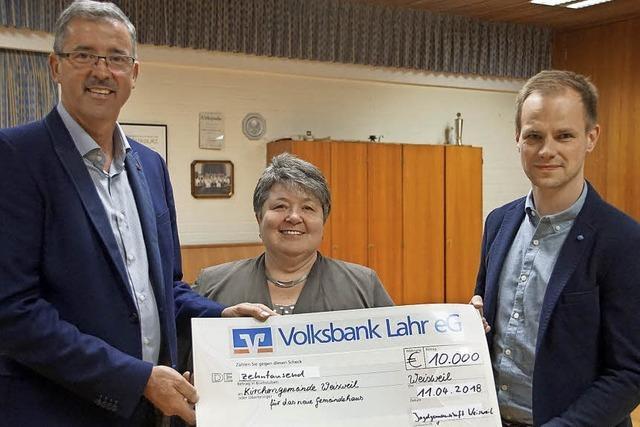 10 000 Euro fürs neue Gemeindehaus