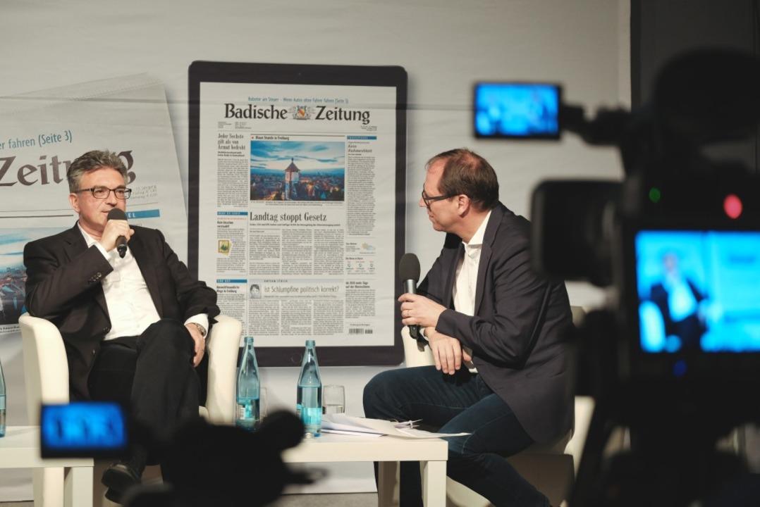 BZ-Kandidatentalk mit Dieter Salomon.  | Foto: Miroslav Dakov