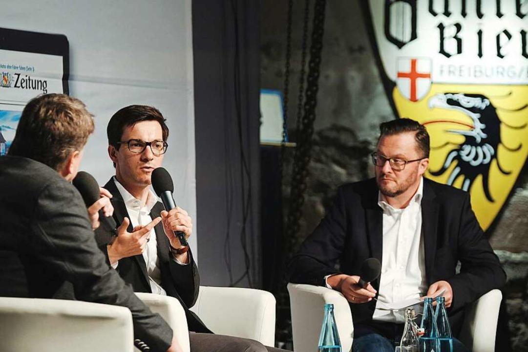 Die letzte von drei Talkrunden: Joachi...inks), Martin Horn und Holger Knöferl.  | Foto: Miroslav Dakov