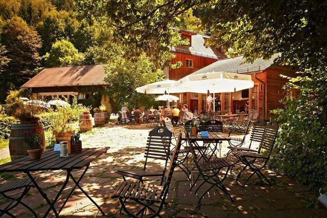 Im Waldgasthaus St. Barbara gibt's einen schönen Blick aufs Dreisamtal