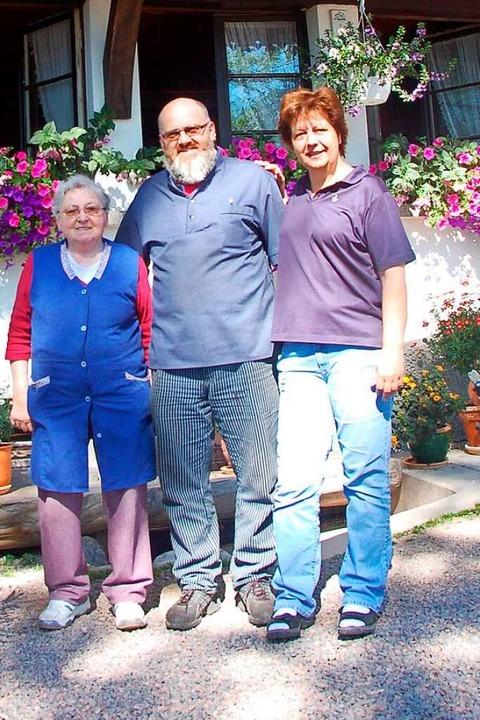 Die fünfte und sechste Generation Andr...argarete, Bernhard und Ruth Andris.       Foto: Ralf Morys