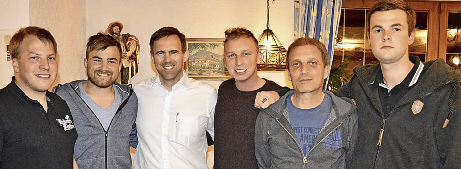 Michael Kerber, Alexander Schühle, Ale...in Heuweiler. Es fehlt André Berthold.  | Foto: Sigrid Ellenberger