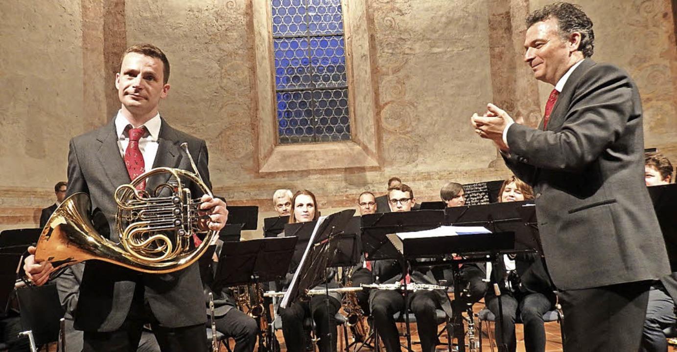 Ein Höhepunkt beim Konzert der Stadtmu...er unter der Leitung von Franco Coali.  | Foto: Flier