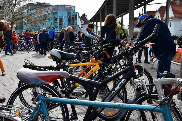 Velobörse in Rheinfelden: Radfahrer greifen bei Gebrauchtem zu