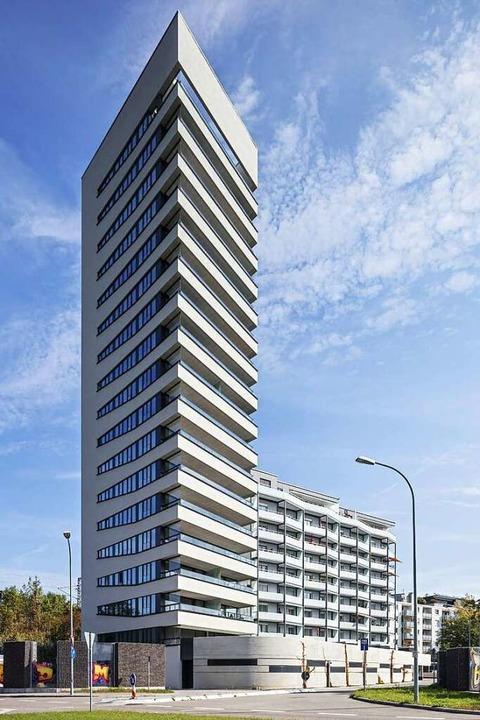 So sieht es aus, das neue Hochhaus am Stadteingang.    Foto: Atelier Dirk Altenkirch