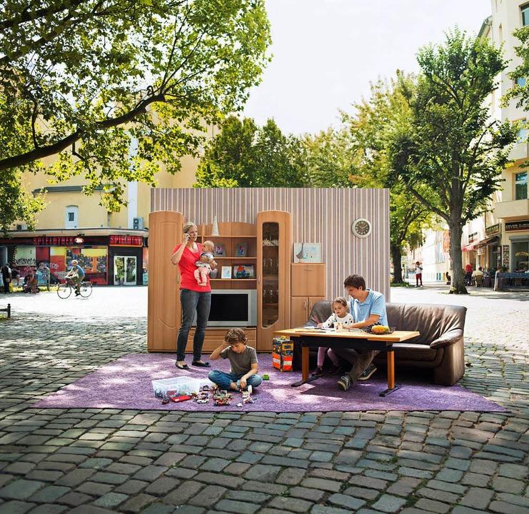Mangels Wohnung hat sich diese Familie auf einem Platz häuslich eingerichtet.  | Foto: Caritasverband