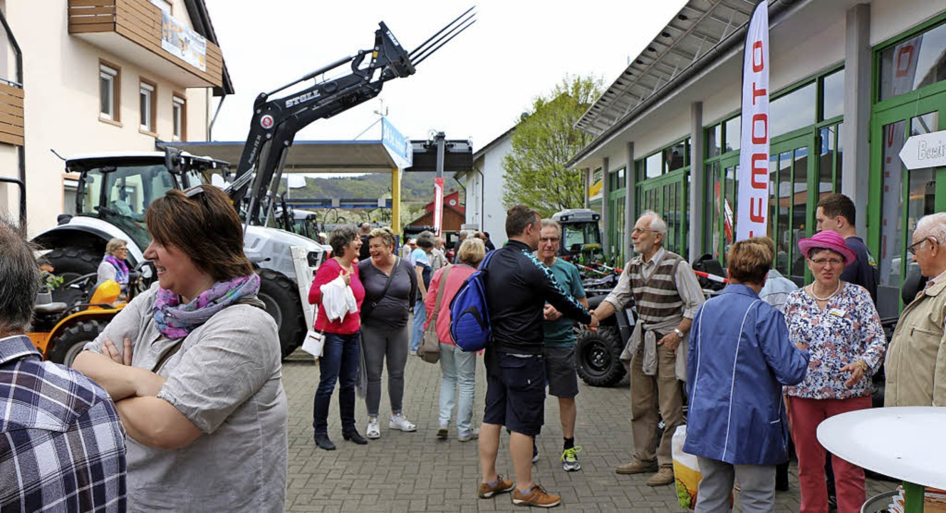 Die Besucher strömten zu der Leistungs... sich insgesamt 35 Firmen beteiligten.  | Foto: Helmut Hassler