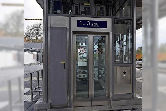 Bahnhof vorübergehend nicht barrierefrei