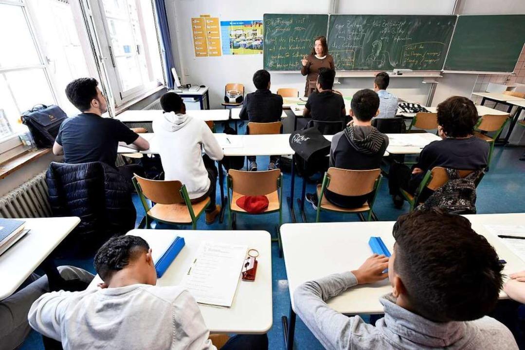Vorbereitungsklasse (VKL) für Flüchtli...haffer im Goethe-Gymnasium in Freiburg  | Foto: Thomas Kunz