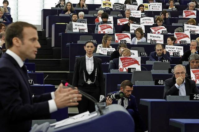 Macron hält an Straßburg fest
