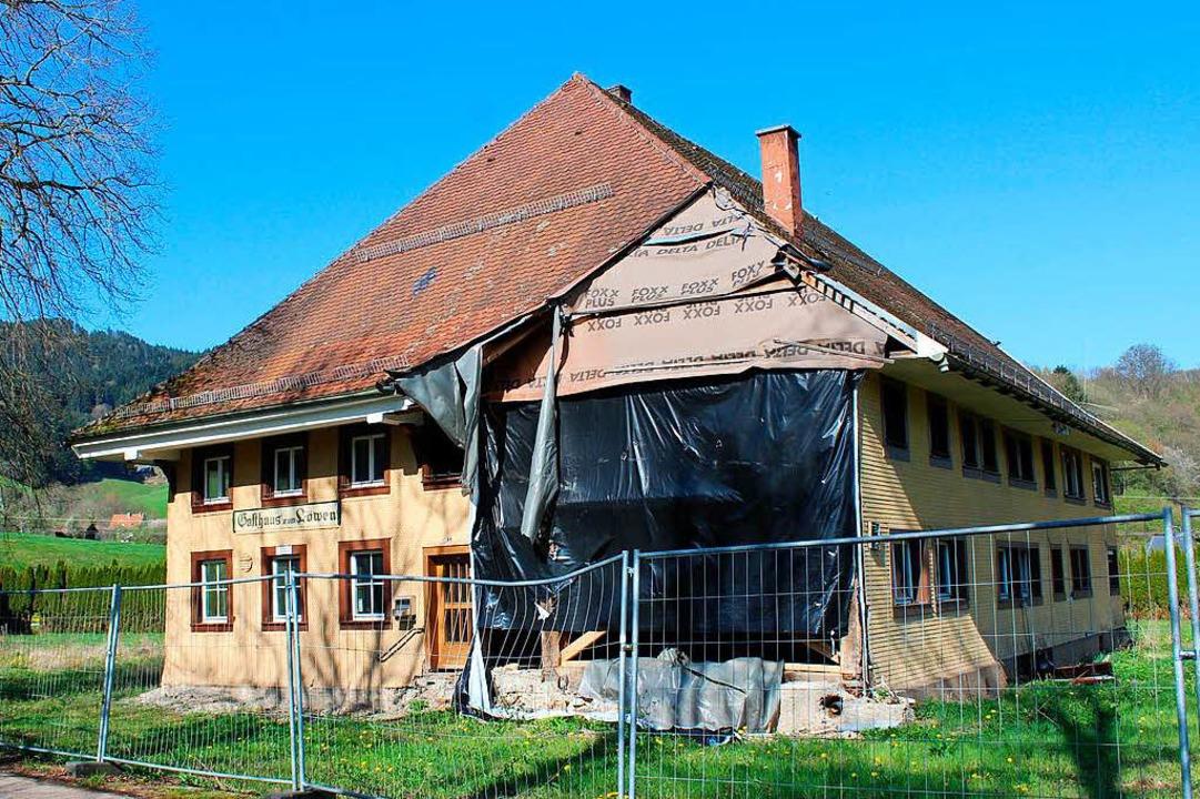 Die Bausubstanz des alten Gasthauses war nicht mehr zu retten.    Foto: Erich Krieger