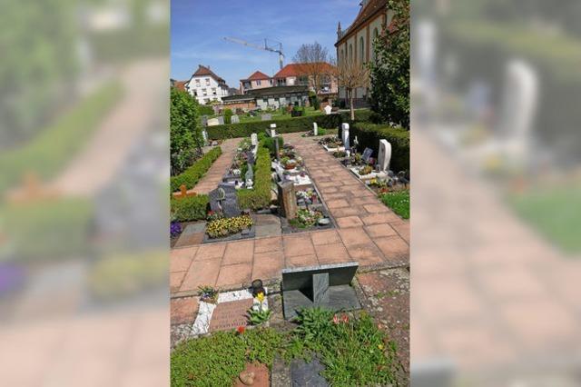 Mehr Platz für Urnengräber