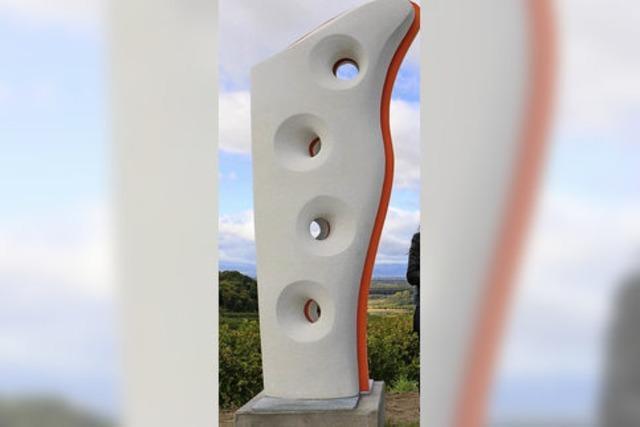 Skulpturen in der Natur kommen an
