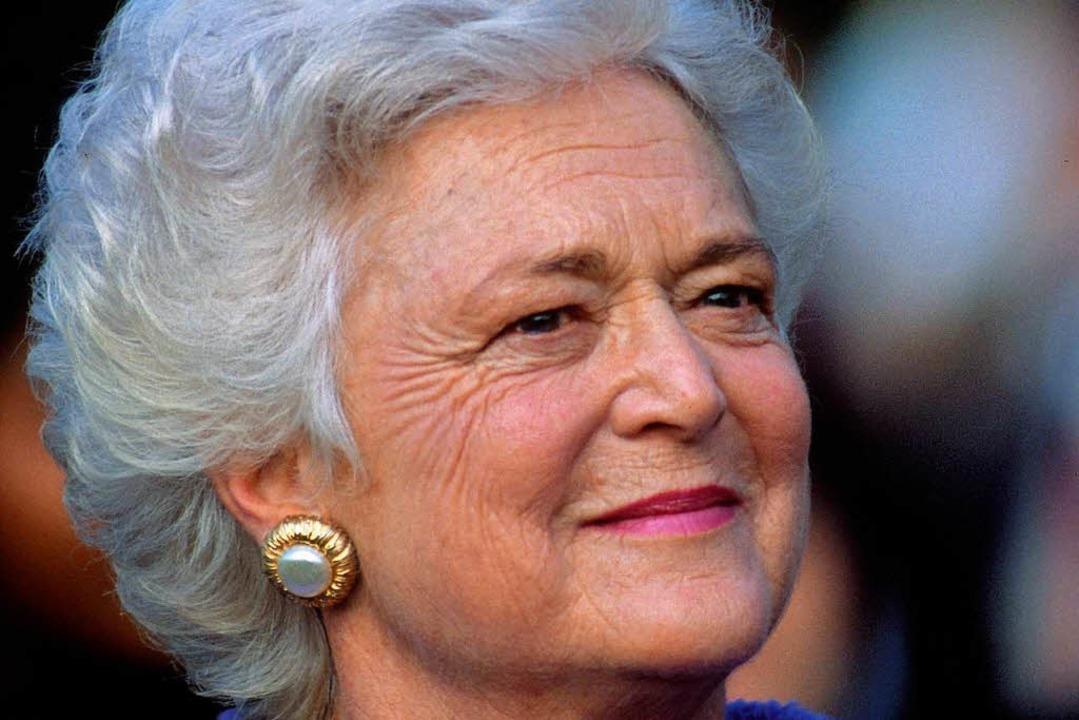 Trauernde nehmen Abschied von Barbara Bush