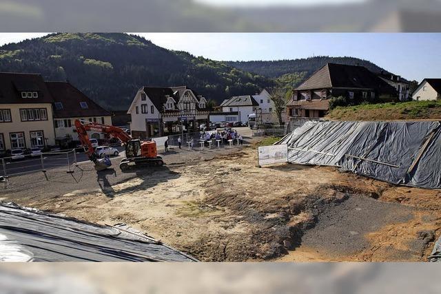 Jetzt wird in Seelbachs Mitte gebaut
