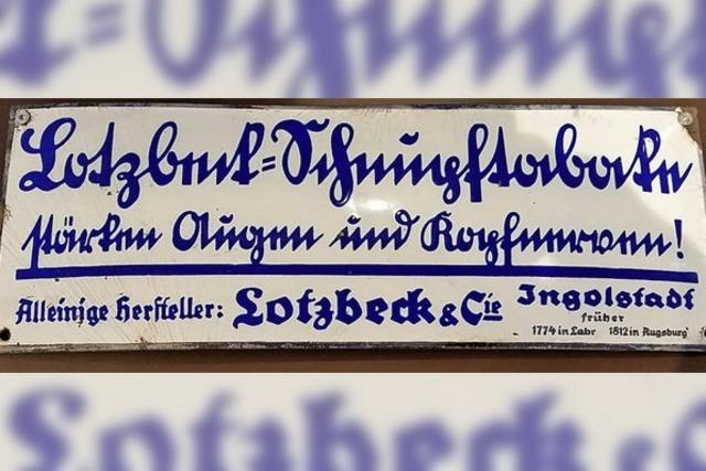 BZ-SERIE: Schnupftabakwerbung in Sütterlin