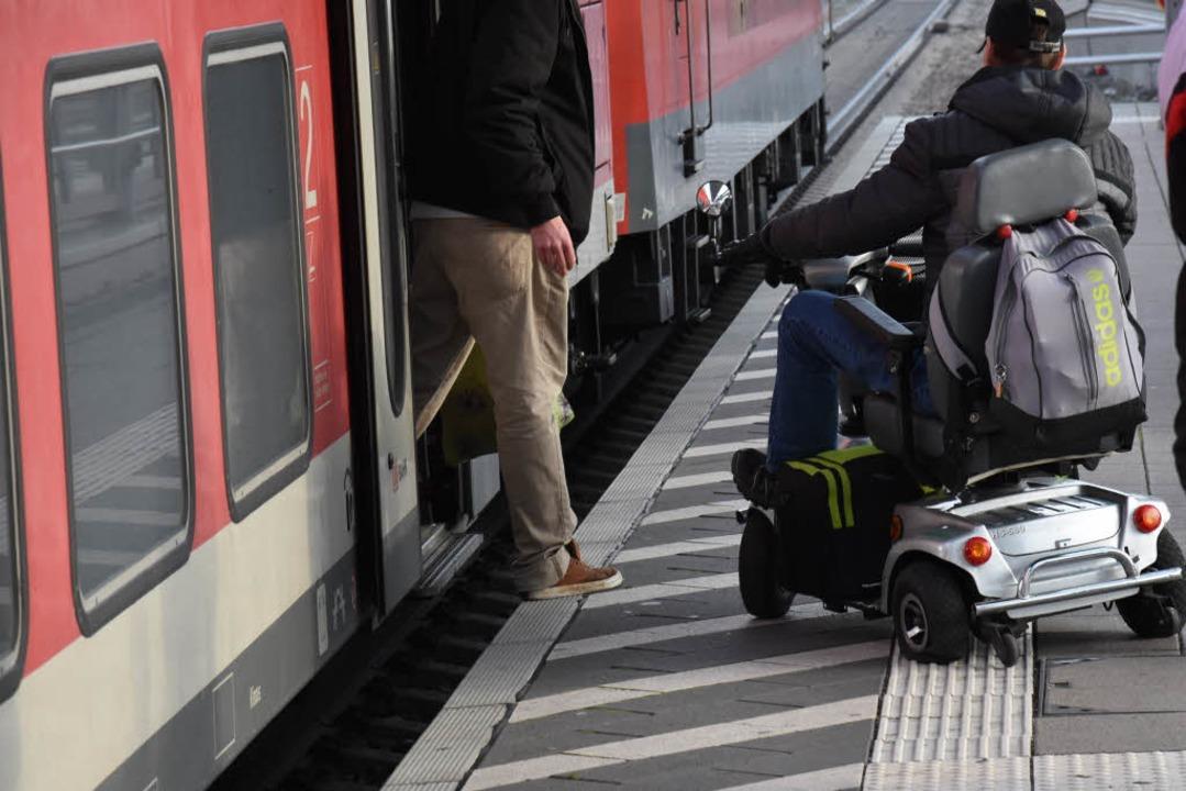 Umbaumaßnahmen für mehr Barrierefreieh...burger Hauptbahnhof barrierefrei sein.  | Foto: Jonas Hirt