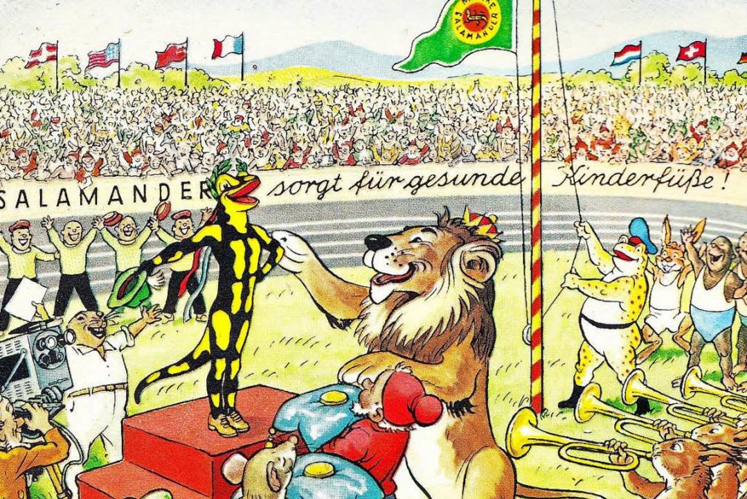 Gold-Lurchi: Zu Olympia 1960 zeichnete...194;Selbstbildnis  | Foto: -