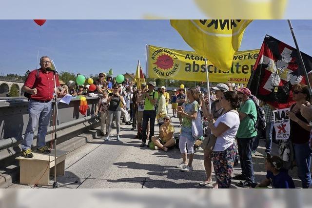 Protest gegen Schweizer Atompolitik