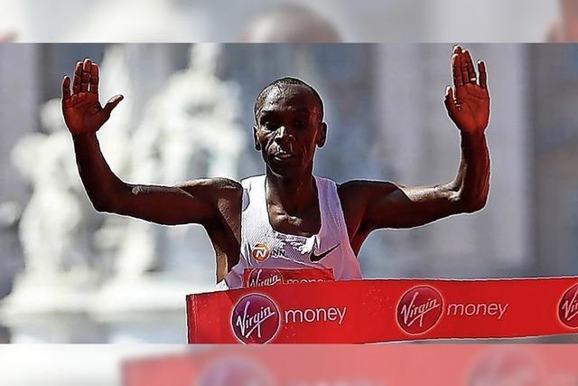 Kipchoge rennt bei 23 Grad dem Weltrekord hinterher