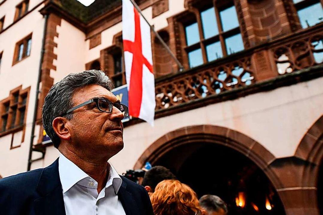 Oberbürgermeister Dieter Salomon vor d...r OB-Wahl extreme Einbrüche hinnehmen.    Foto: dpa