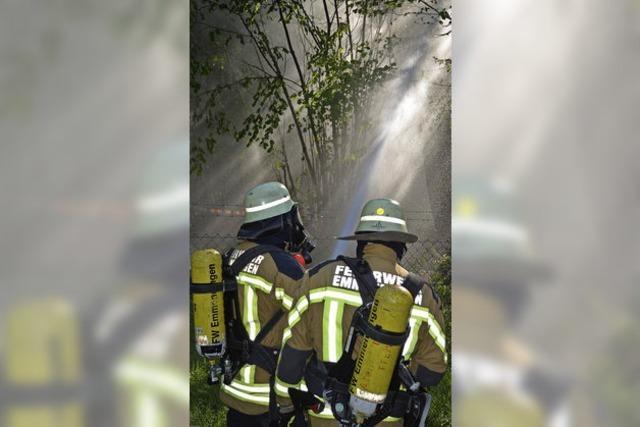 Waldbrandübung in der Sommerhitze