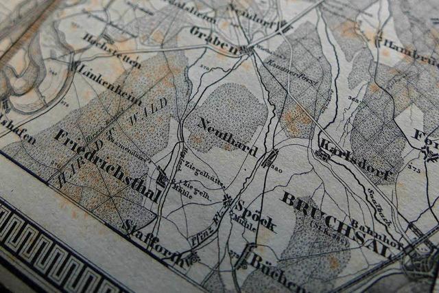 155 Jahre alte Landkarte in Lörrach gefunden