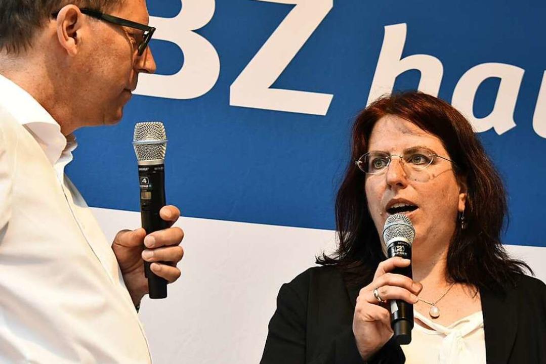 Sie kann den zweiten Wahlgang entscheidend mitbeeinflussen: Monika Stein.  | Foto: Michael Bamberger