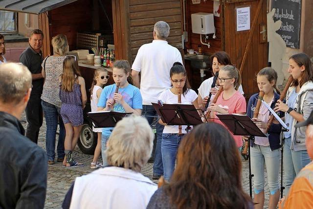 Flötenmusik in historischem Ambiente