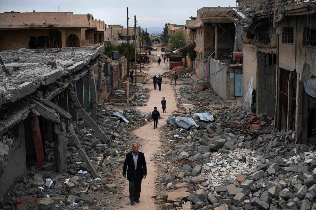 Im von der Terrormiliz befreiten Mossul wurde Lamia K. wahrscheinlich gefasst.  | Foto: dpa