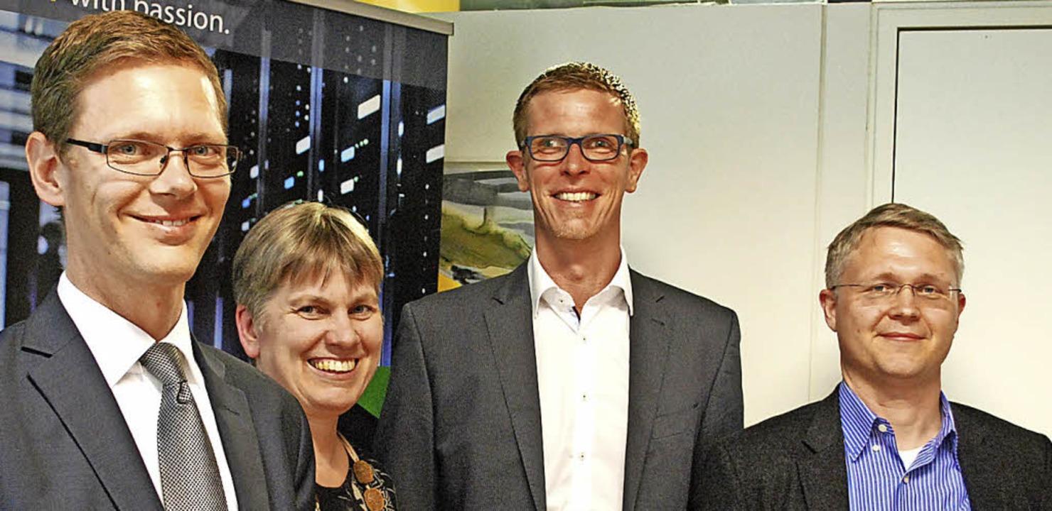 Referent Michael Weber (von links), Ma...neuen Datenschutz in der EU zum Thema.  | Foto: Thomas Loisl Mink