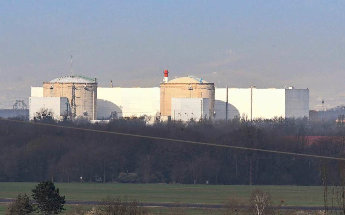Das Atomkraftwerk Fessenheim von deutschem Boden aus fotografiert  | Foto: dpa