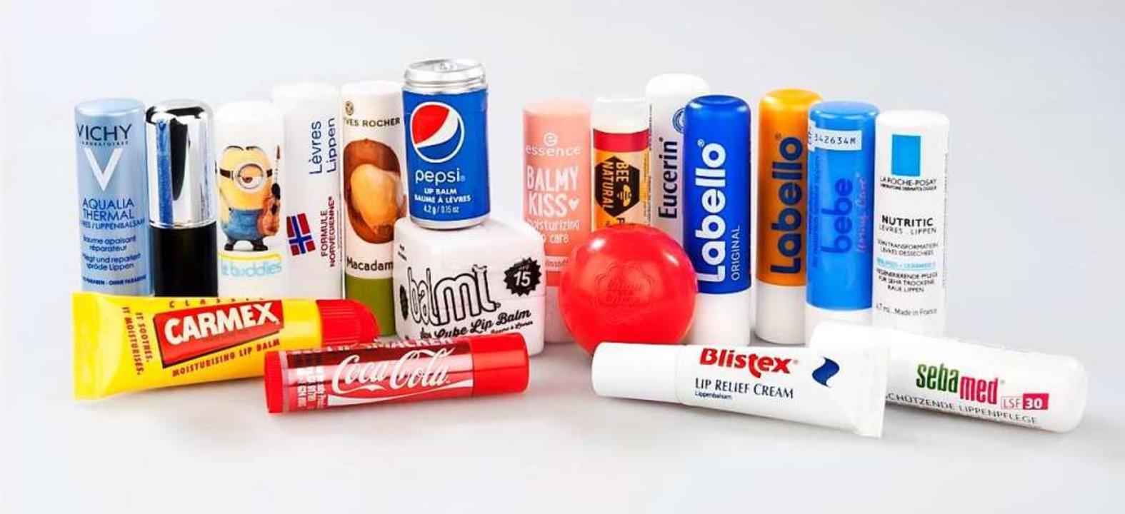 Nicht empfehlenswert fand die Stiftung...ntest diese Produkte zur Lippenpflege.  | Foto: Stiftung Warentest