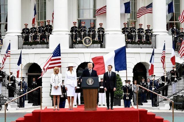 Macron auf Staatsbesuch in den USA
