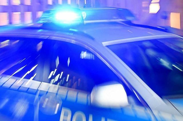 Streifenwagen rast in Audi