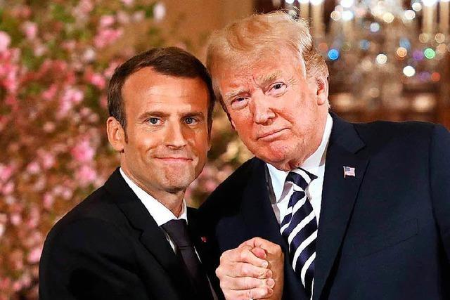 Macron und Trump in Kuschellaune: So reagiert das Netz
