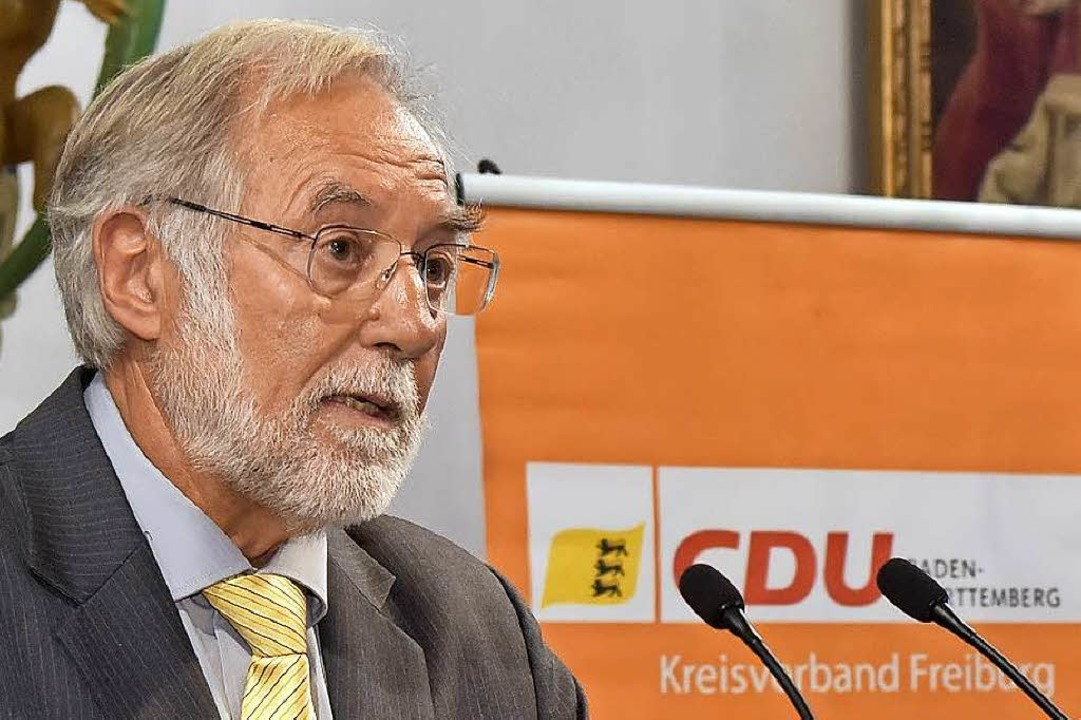 CDU-Kreisvorsitzender Peter Kleefass g...e Stadt gut führen könne (Archivbild).  | Foto: Thomas Kunz