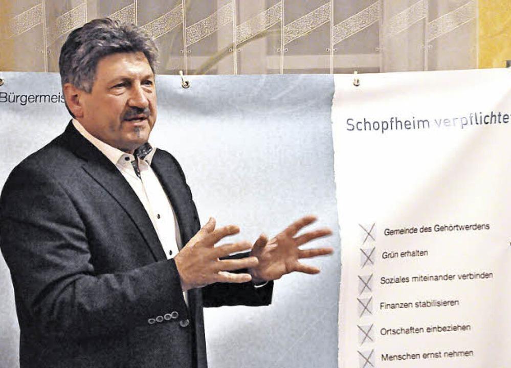 Roland Matzker, Vorsitzender der Schop...ktivitäten im Bürgermeisterwahlkampf.   | Foto: Nicolai Kapitz