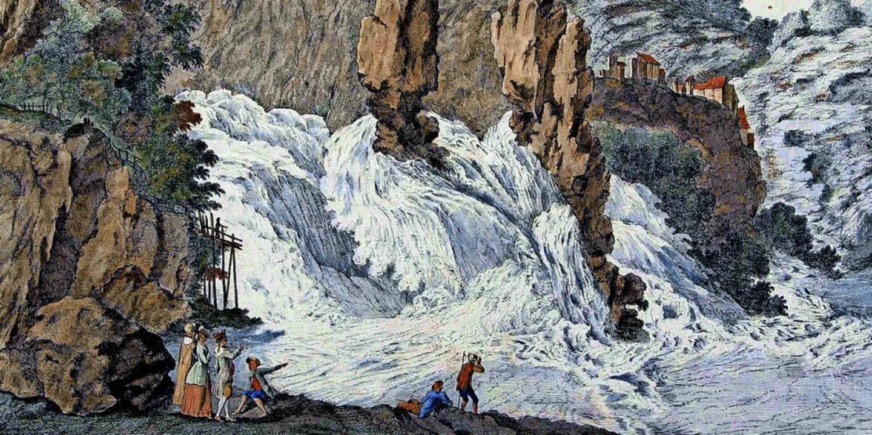 Der Rheinfall bei Schaffhausen (um 1780)  | Foto: Museum